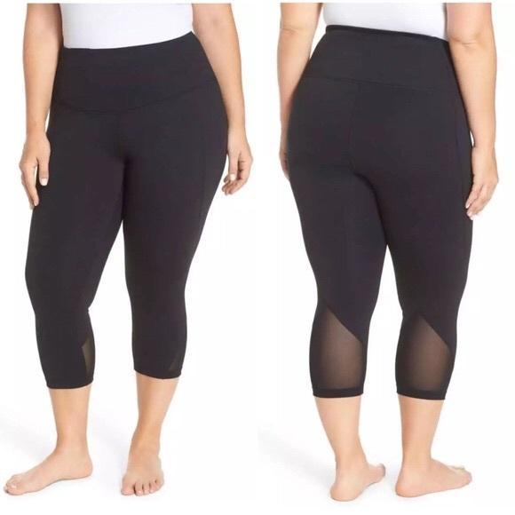 234440db4382b Zella Pants | Mesh Crop Capri Leggings Plus Size 3x | Poshmark